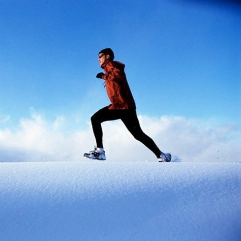 '2 man running-passion-winter running-fitness'