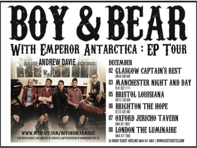 'Boy&Bear-UK Tour-Music'