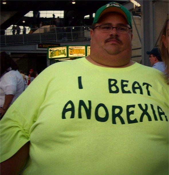 'I beat anorexia-Talking T-Shirts-Fashion'